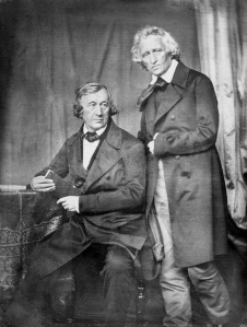 Wilhelm and Jacob Grimm, 1847; daguerreotype by Hermann Blow